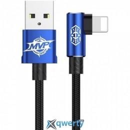 Lightning Baseus MVP Elbow Type Cable USB For IP 1.5A 2M Blue (CALMVP-A03)
