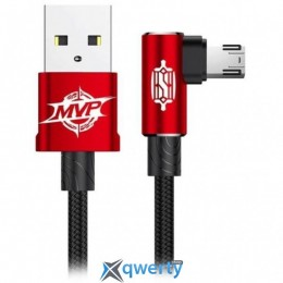 Lightning Baseus MVP Elbow Type Cable USB For IP 1.5A 2M Red (CALMVP-A09)