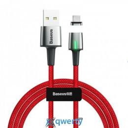 Lightning Baseus Zinc Magnetic Cable USB For iP 1.5A 2m Red (CALXC-B09)