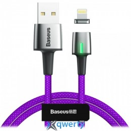 Lightning Baseus Zinc Magnetic Cable USB For iP 2.4A 1m Purple (CALXC-A05)