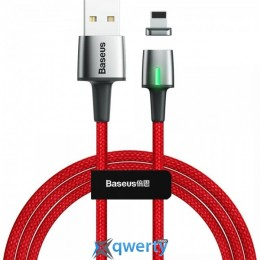 Lightning Baseus Zinc Magnetic Cable USB For iP 2.4A 1m Red (CALXC-A09)