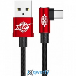 USB Type-C Baseus MVP Elbow Type Cable USB For Type-C 1.5A 2M Red (CATMVP-B09)