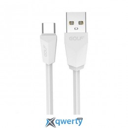 USB Type-C GOLF GC-27t Type-C 1.5M White (GF-GC27T15-W)