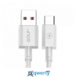 USB Type-C GOLF GC-42 Type-C 5A Fast 1M White (GF-GC42T10-W)