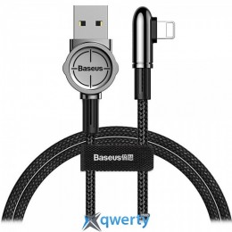 Lightning Baseus Exciting Mobile Game Cable USB For iP 2.4A 1m Black (CALCJ-A01)