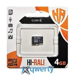 MicroSDHC 4GB Class 4 Hi-Rali (HI-4GBSDCL4-00)