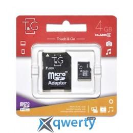 MicroSDHC 4GB Class 4 T&G + SD-adapter (TG-4GBSDCL4-01) купить в Одессе