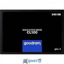 Goodram SSD CL100 Gen.3 240GB SATA III 3D NAND TLC (SSDPR-CL100-240-G3) 2,5