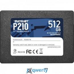 Patriot P210 512GB SATAIII TLC (P210S512G25) 2.5