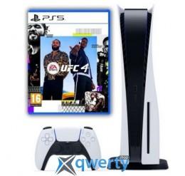Sony Playstation 5 White 1Tb + UFC 4 (русская версия)