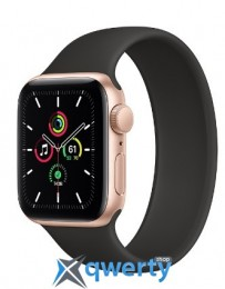 Apple Watch SE GPS, 40mm Gold Aluminum Case with Solo Loop Black