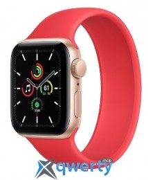 Apple Watch SE GPS, 44mm Gold Aluminum Case with Solo Loop Product Red