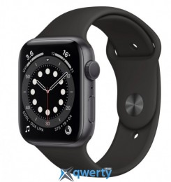 Apple Watch Series 6 GPS MG133 40mm Space Gray Aluminium Case with Black Sport Band