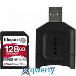 Kingston 128GB SDXC class 10 UHS-I U3 React Plus + USB-кардридер (MLPR2/128GB)