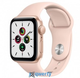 Apple Watch Series SE GPS (MYDN2) 40mm Gold Aluminium Case with Pink Sport Band