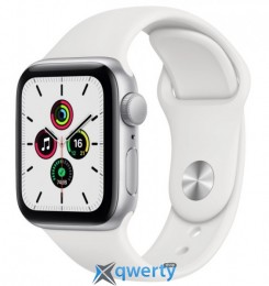 Apple Watch Series SE GPS (MYDM2) 40mm Silver Aluminium Case with White Sport Band