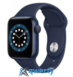 Apple Watch Series 6 GPS (M00J3) 44mm Blue Aluminium Case with Blue Sport Band