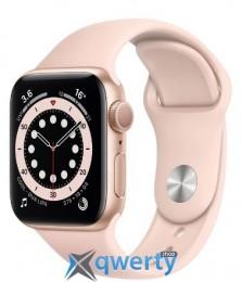 Apple Watch Series 6 GPS M00E3 44mm Gold Aluminium Case with Pink Sport Band купить в Одессе