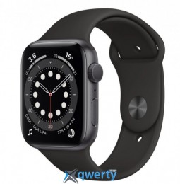 Apple Watch Series 6 44mm Space Gray Aluminum Case with Black Sport Band M00H3 M00H3UL/A