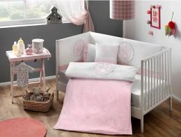 Набор в кроватку с бортиками и одеялом TAC Sweet Baby Pink (8 предметов) (71245217)