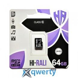 Hi-Rali 64GB microSD class10 UHS-I U3 (HI-64GBSDU3CL10-00)