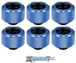 Thermaltake Pacific C-PRO G1 / 4 PETG Tube 16 мм OD Compression - Blue (6-Pack) (CL-W210-CU00BU-B)