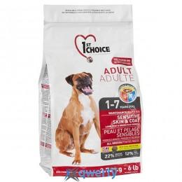 1st Choice Adult Sensitive Lamb&Fish (Фест Чойс взрослый ягненок рыба) сухой супер премиум корм для взрослых собак, 5 кг. (ФЧСВЯР5ПЭ)