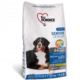 1st Choice Senior Medium&Large Chicken (Фест Чойс сеньор средние крупные курица)корм для пожилых или малоактивных собак средних и крупных пород, 5 кг. (ФЧСССК5ПЭ)