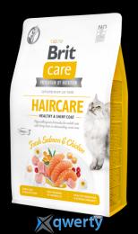 Brit Care Cat GF Haircare Healthy & Shiny Coat 7 кг (курица и лосось) (1111162369)