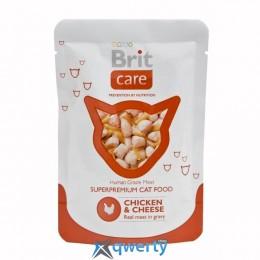Brit Care Cat Chicken & Cheese pouch 80 г для кошек (курица и сыр) (1111142133)