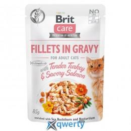 Brit Care Cat pouch 85g для кошек (филе индейки и лосося в соусе) (1111162661)