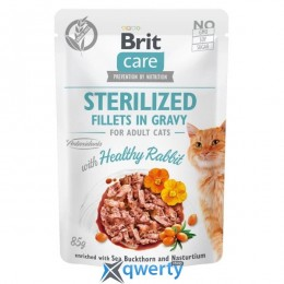 Brit Care Cat pouch 85g для стерилизованных котов (филе кролика в соусе) (1111162660)