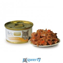 Brit Care Cat Tuna, Carrot & Pea 80 г для кошек (тунец, морковь и горох) (1111142275)