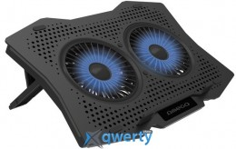 OMEGA LAPTOP COOLING PAD 2 FANS BLACK (OMNCP2FB)
