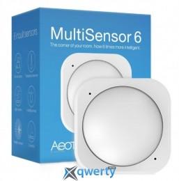 Aeotec Умный датчик 6в1 Multisensor 6, Z-Wave, DC 5V 2*CR123A или microUSB, белый (ZW100)