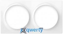 Fibaro Рамка для фурнитуры Walli - на 2 поста, белая (FG-WX-PP-0003)
