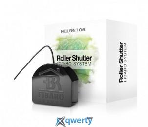 Fibaro Умное реле Roller Shutter 3, Z-Wave, 230V, макс. 4.2A (лампы), 1.7А (моторы), 400Вт, черный (FGR-223)