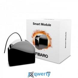 Fibaro Умное реле Smart Module, 6.5A, Z-Wave, 24-30V DC/ 230V AC, 1 сухой контакт, черный (FGS-214)