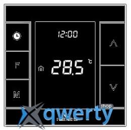 MCO Home Умный термостат для водяного теплого пола/водонагревателя, Z-Wave, 230V АС, 10А, черный (MH7H-WH-BLACK)