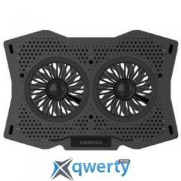 OMEGA Laptop COOLING PAD 2 fans BLACK [45425] (OMNCP2FB)