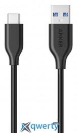 ANKER POWERLINE USB-C TO USB-A 3.0 - 0.9М V3 BLACK (A8163H11/A8163G11)