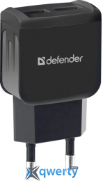DEFENDER EPA-13 BLACK, 2XUSB, 5V/2.1A, PACKAGE (83840) купить в Одессе