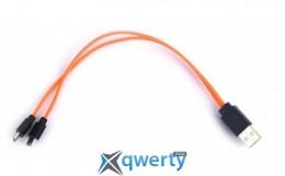 ColorWay USB-MicroUSB, 0.26м Orange (CW-CMU2-OR)