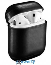 iCarer для AirPods Vintage Leather Series (Black)