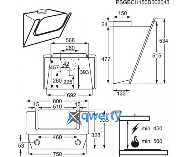 ELECTROLUX EFV80465OW