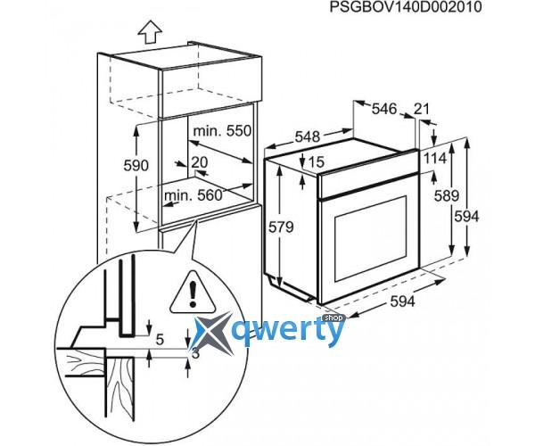 ELECTROLUX EOA45551OX