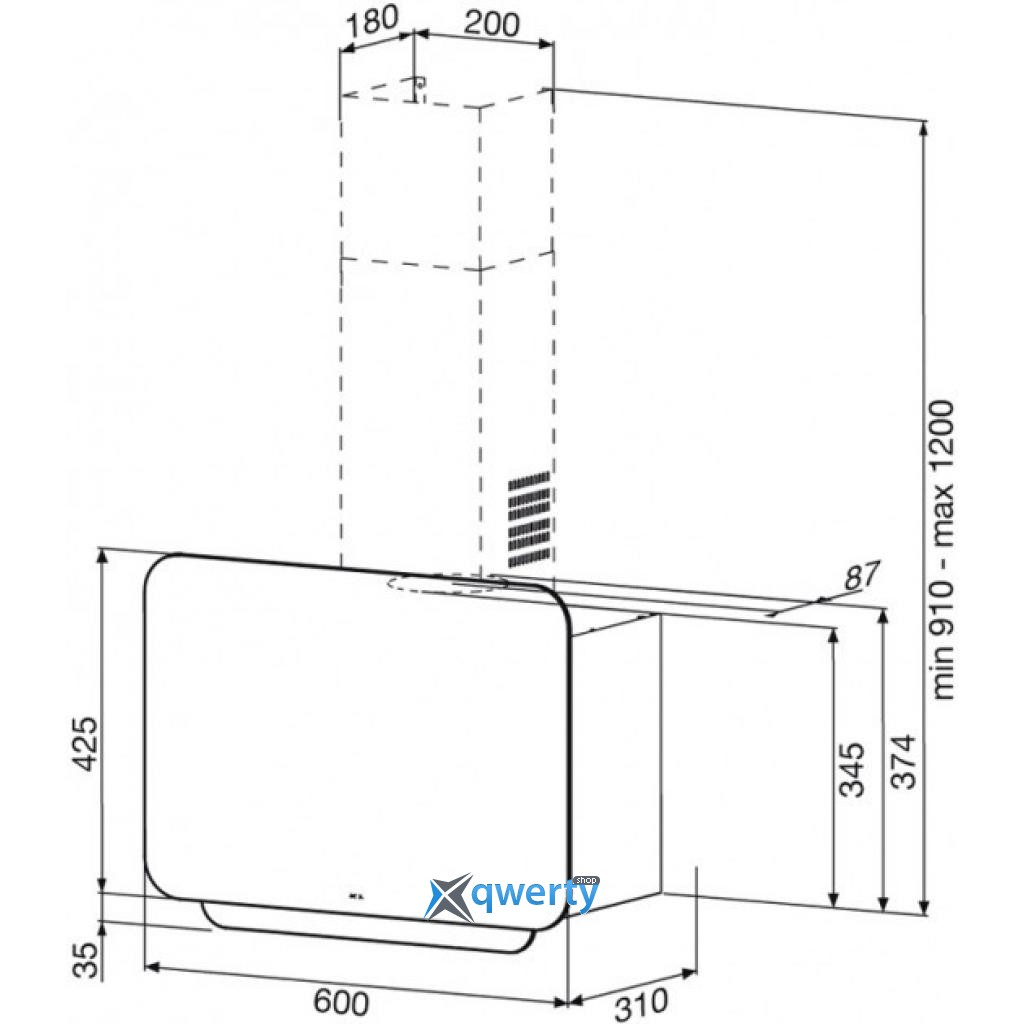 BEST EXPO LUX HF Bianco 900м3 60см (07F64201)