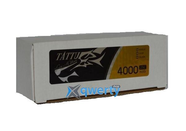 AE Gens Ace TATTU Li-Po 14.8V 4000 mAh 4S1P 25C Soft Case