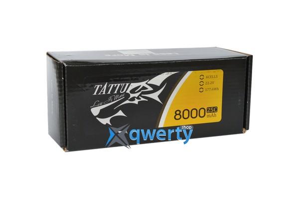 AE Gens Ace TATTU Li-Po 22.2V 8000 mAh 6S1P 25C Soft Case