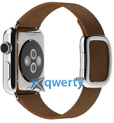 Apple Watch 38mm Stainless Steel Case with Brown Modern Buckle Size M (MJ3C2LL/A)